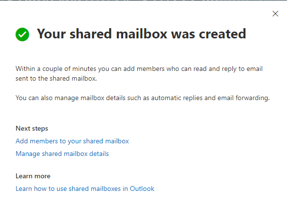 Microsoft 365 Shared Mailbox