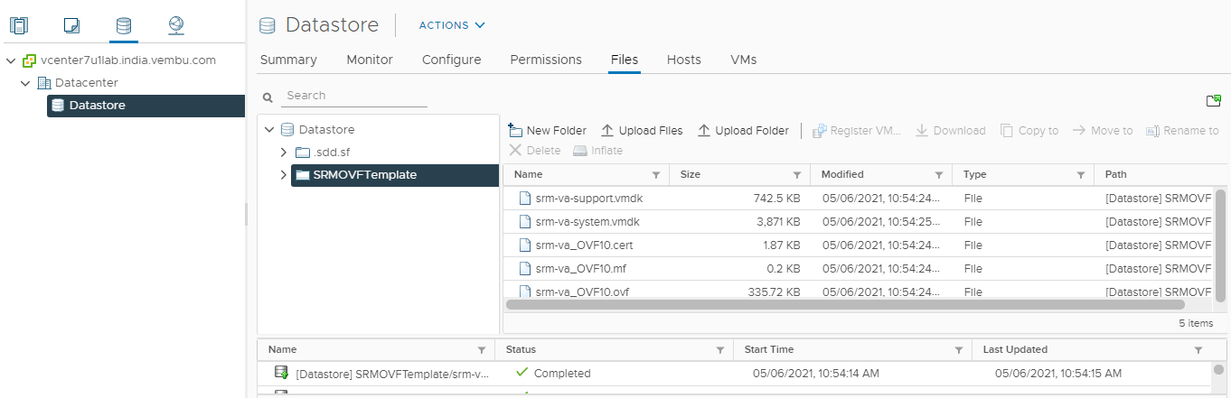 VMware Site Recovery Manager